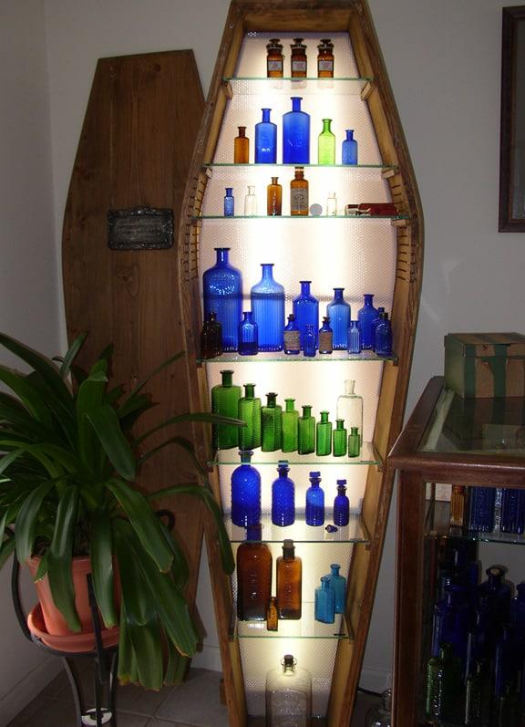 Looking At Coffin Poison Bottles Peachridge Glass