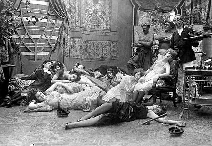 opium party 1918