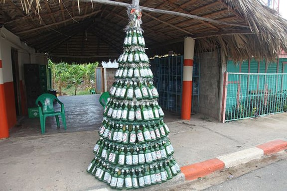 The Best Merry Christmas Bottle Tree