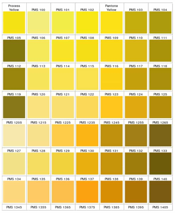 the color yellow – a wide range of shades | peachridge glass