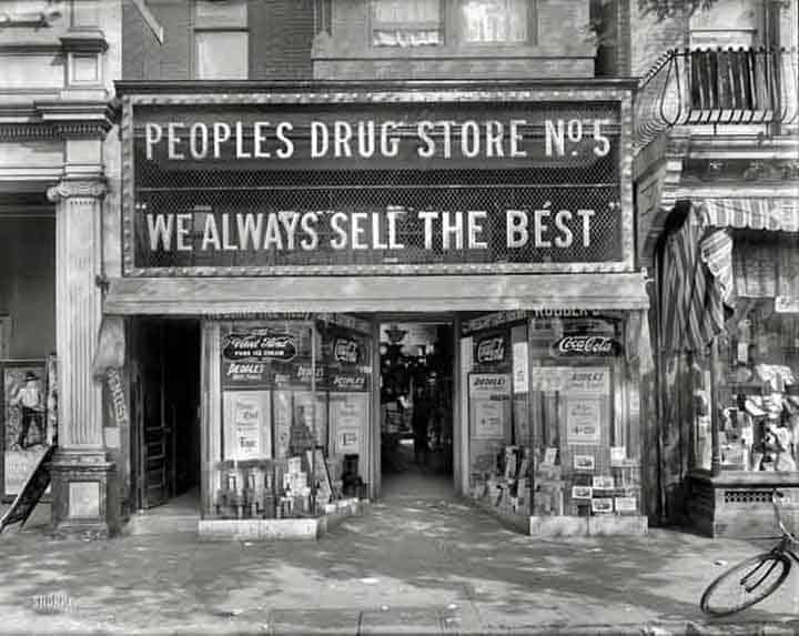 Drug Stores From Bygone Days Peachridge Glass