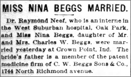 NinaBeggsMarried1916