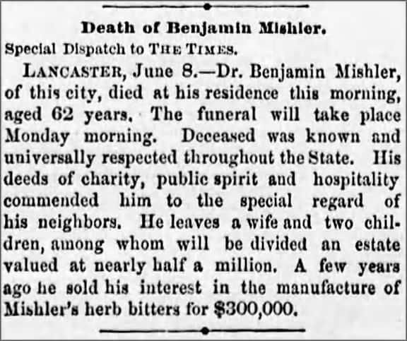 MishlerDeath_The_Times_Fri__Jun_9__1876_