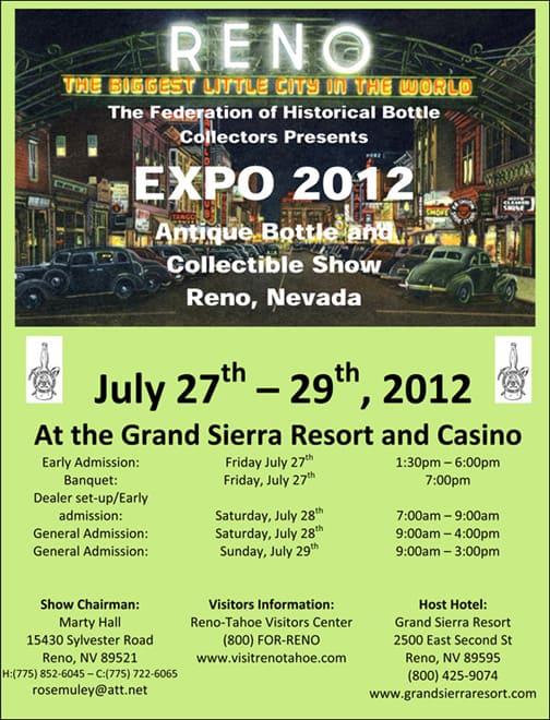 Reno 2012 Expo Flyer