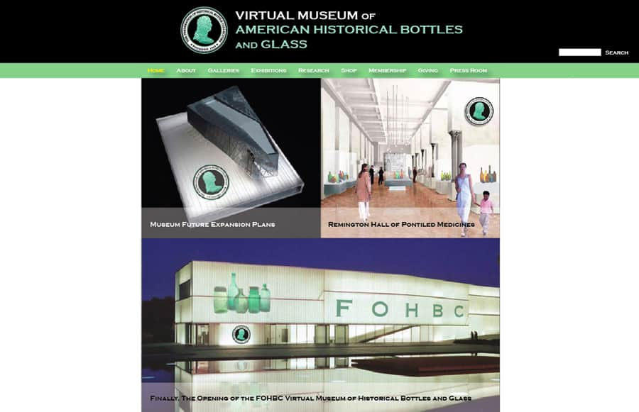 virtual museum opening page