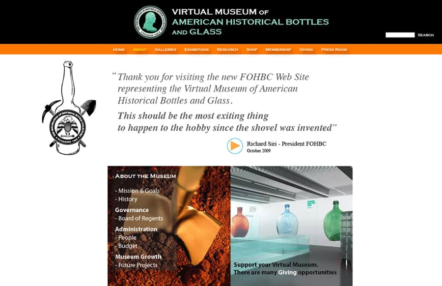 virtual museum about page