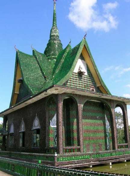 Thailand Beer Bottle Temple Exterior
