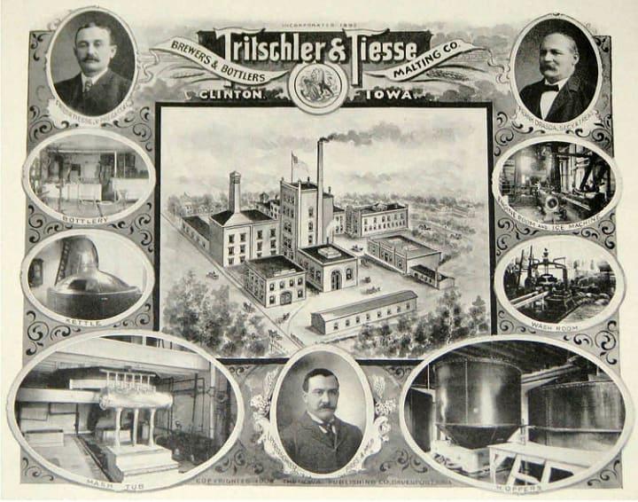 Clinton Iowa Breweries Ad