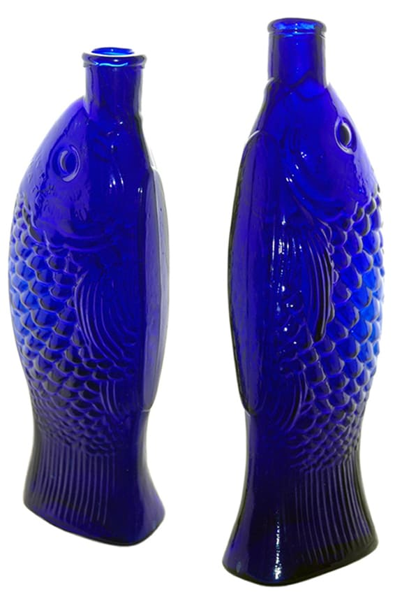 Cobalt Blue Fish Bitters - Meyer Collection