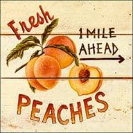 Fresh Peaches Crate: 1 Mile Ahead