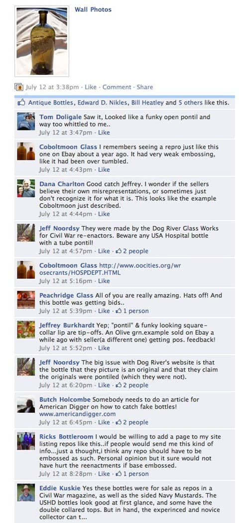 12 July Facebook Responses