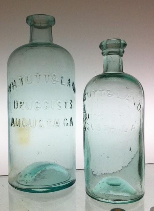 W.H. Tutt & Land Druggist, Augusta, GA Bottles