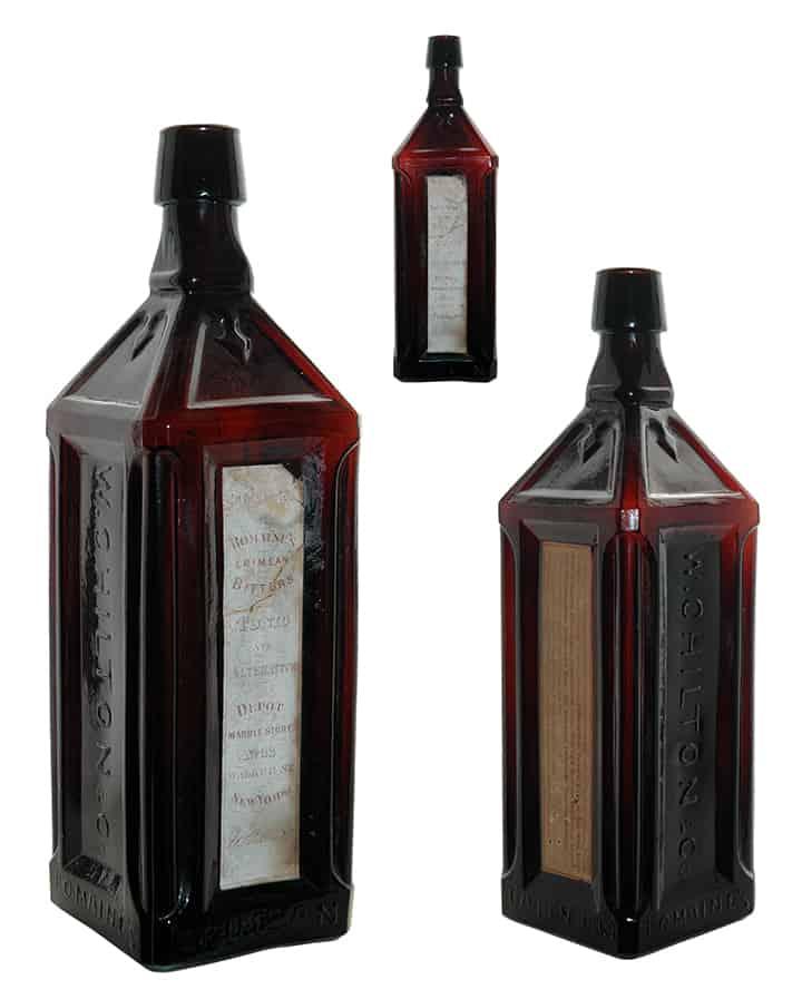 Nice Romaine\'s Crimean Bitters in ABA Auction #53 | Peachridge Glass