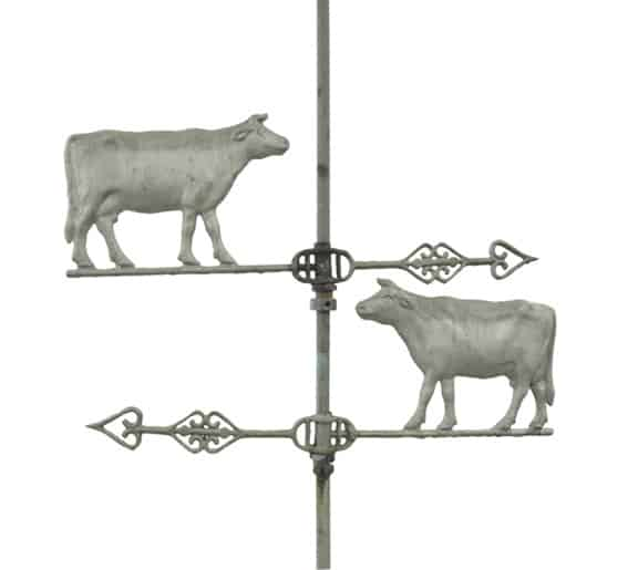 Facing Pair of Cows Weathervane