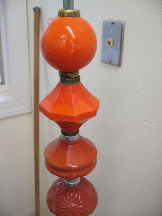 Orange Milk Glass