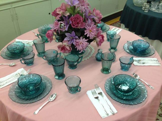 Some Gorgeous Depression Glass Table Settings | Peachridge Glass