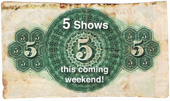 Make plans 5 bottle shows this coming weekend for Ferdinand indiana craft show