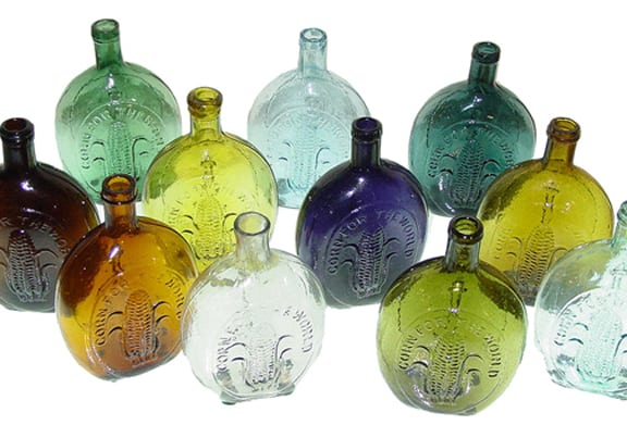Corn for the World Historical Flasks - Baltimore Glass Works