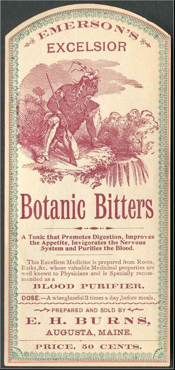 Unique Emerson's Excelsior Botanic Bitters – Augusta, Maine | Peachridge  LH56