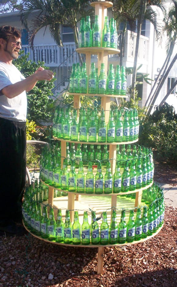 Beers From Christmas Past - WARRIORS ON PURPOSE |2946 Beer Bottle Christmas Tree