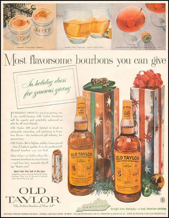 Old Taylor Advertisement in LOOK magazine in 1957