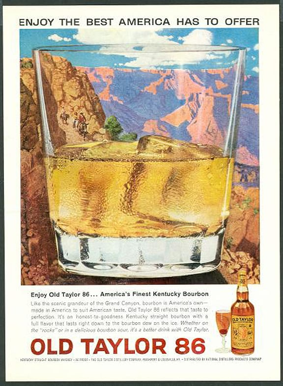 1963 Old Taylor 86 Whiskey Vintage Ad