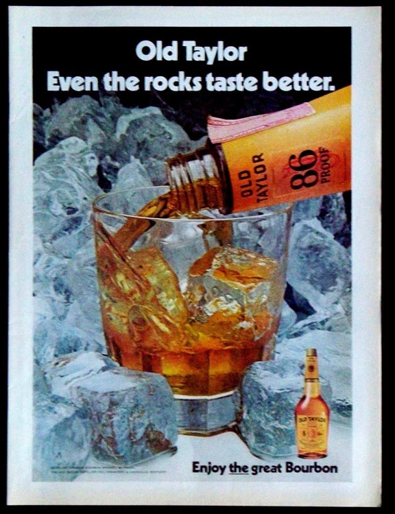 1973 Old Taylor Kentucky Straight Bourbon Whiskey Magazine Ad