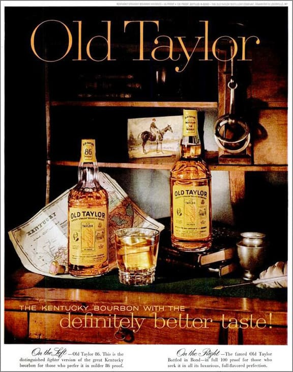 Old Taylor Bourbon Advertisement Circa 1978