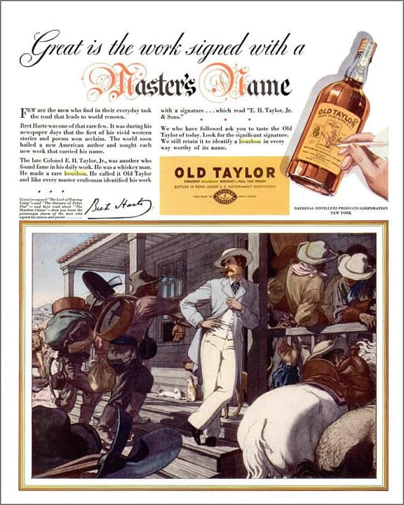 Old Taylor Bourbon Ad – LIFE – May 17, 1937