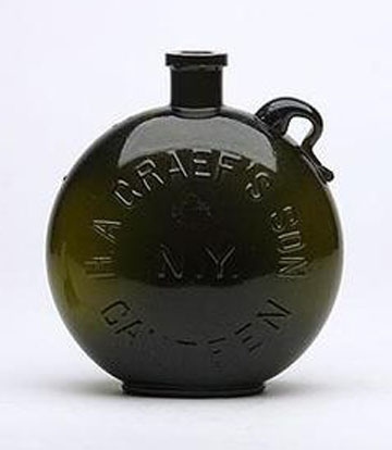 Historical Canteens – Canteen Figural Bottles | Peachridge Glass