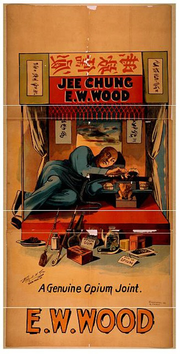 E.W. Wood Genuine Opium Den by Richard K. Fox Show Print, c1899 - Library of Congress
