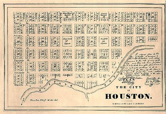 Houston 1837 plan