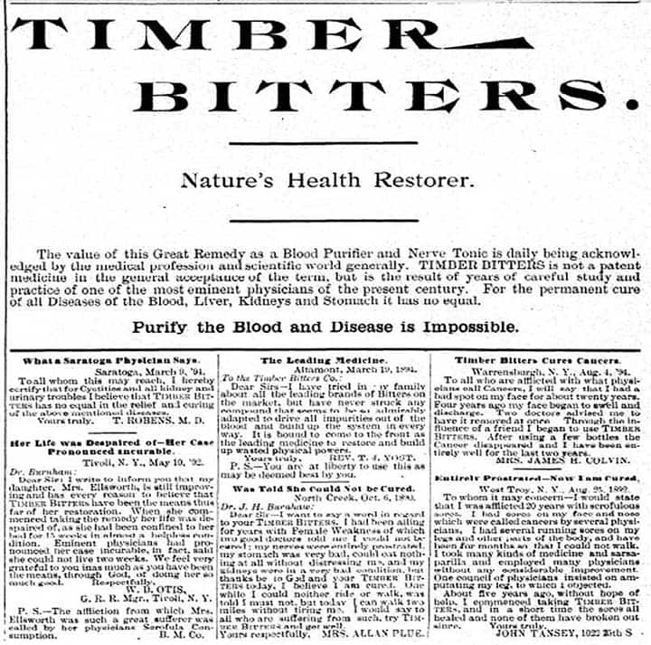 TimberBittersAd - Watertown-Herald - 1894