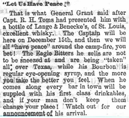 EagleBitters_Houston Daily Mercury - Houston Tex - Nov 30 1873
