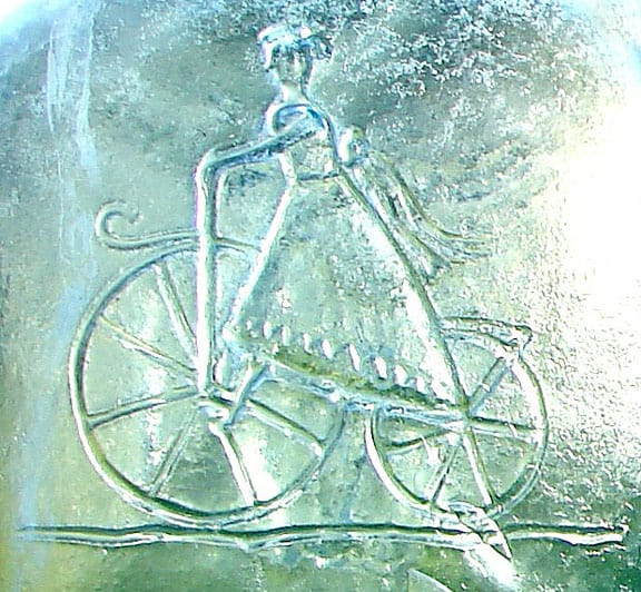 GirlOnBikeEmbossing