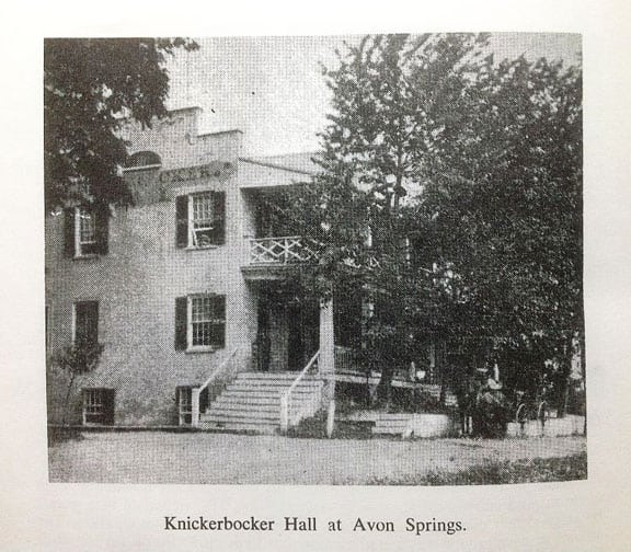 Knickerbocker hall at Avon Springs