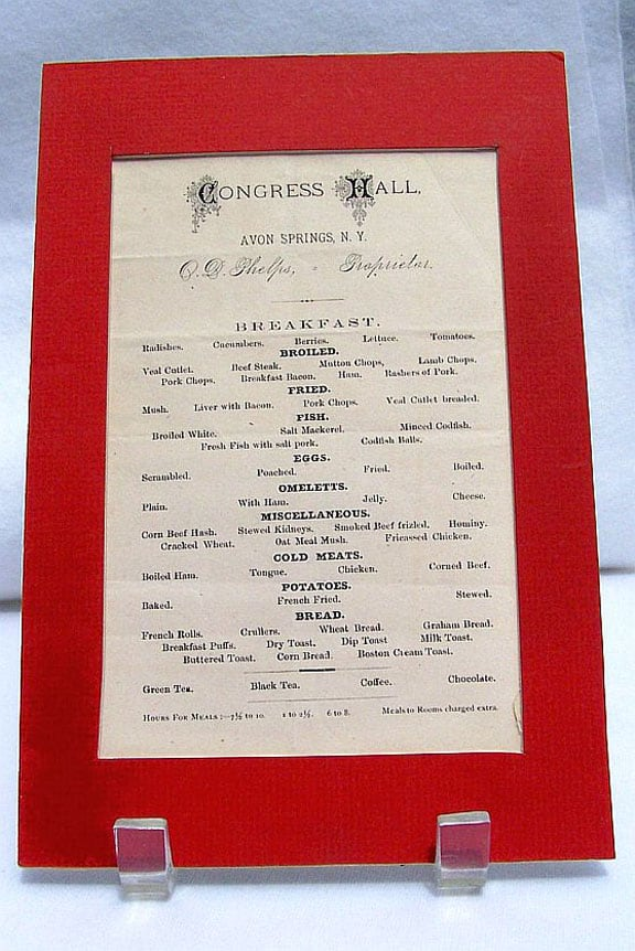 avon congress hall menu