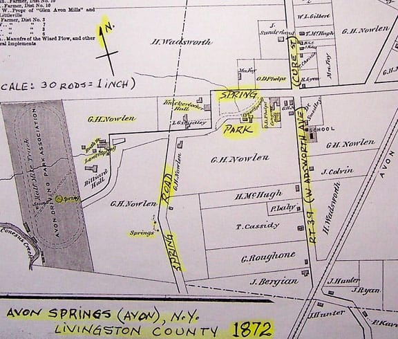 map of avon springs area-1872-1