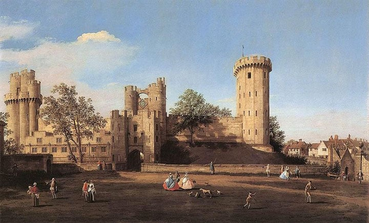800px-Warwick_Castle,_the_east_front_by_Canaletto,_1752