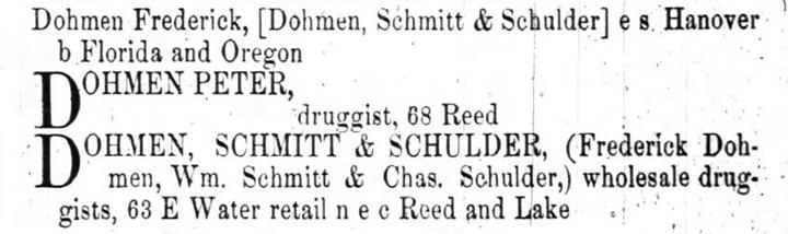 DohmenSchmidtSchulder1863Listing