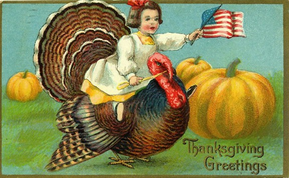 vintage-thanksgiving-turkey-little-girl-with-american-flag1