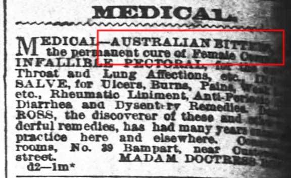AustralianBittersTimesPicayune1872