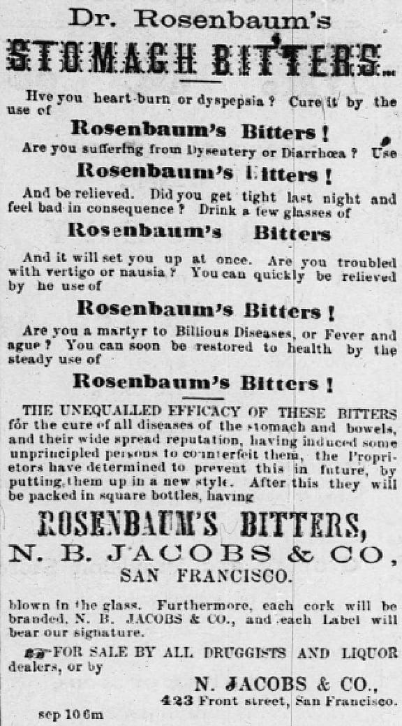 RosenbaumsBittersSantaCruz1864