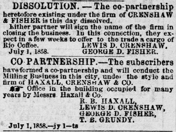 Crenshaw&FisherDissolution1858