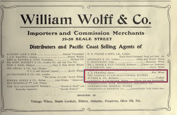 1909 William Wolff and Co
