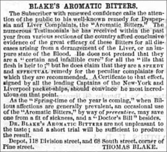 BlakesAromaticBittersAd_TheRepublic1852