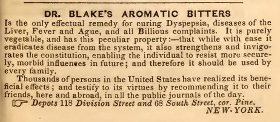 BlakesAromaticBitters_1852NYCDir