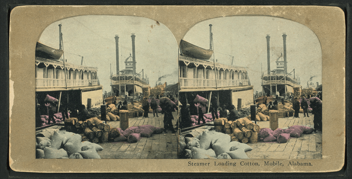 Steamer_loading_cotton_aboard_the_Hard_Cash_in_Mobile,_Alabama,_from_Robert_N._Dennis_collection_of_stereoscopic_views