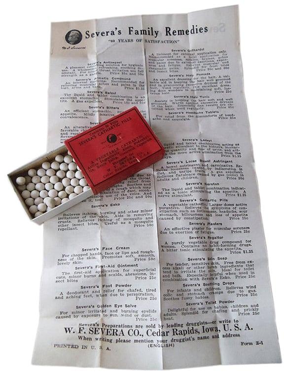 SeverasCatharticPillsBox&Letter