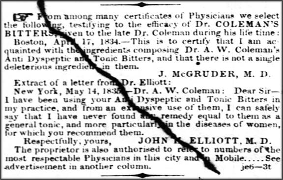 ColemansNotice_The_Times_Picayune_Sun__Jun_6__1847_